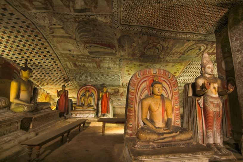 Gold inside Dambulla's Rock Temple
